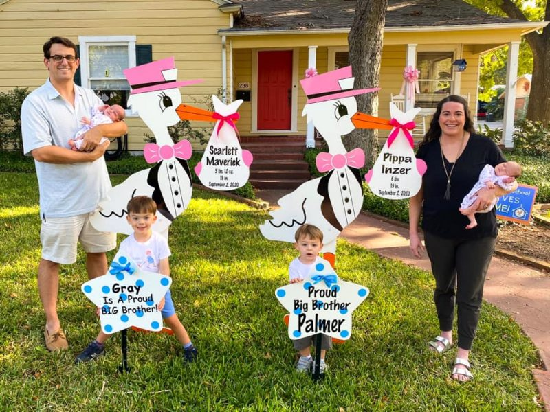 Twin Stork Yard Signs - Yard Sign Rentals